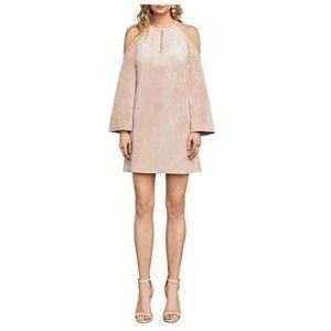 BCBG MAXAZRIA LAGUNA COLD SHOULDER DRESS, SIZE S